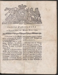 Gazeta Warszawska. R.1781 Nr 22