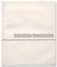 Schlesische Monatshefte. 15. Jahrgang, Juni 1938, Folge 6