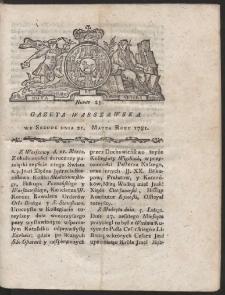 Gazeta Warszawska. R.1781 Nr 23