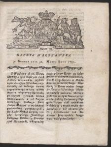 Gazeta Warszawska. R.1781 Nr 26