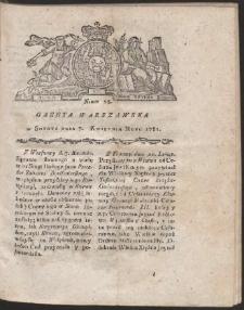 Gazeta Warszawska. R.1781 Nr 28