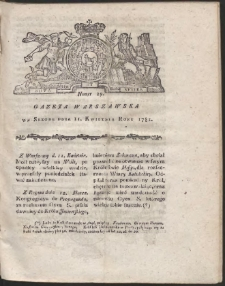 Gazeta Warszawska. R.1781 Nr 29
