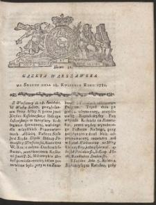 Gazeta Warszawska. R.1781 Nr 31