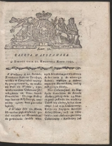 Gazeta Warszawska. R.1781 Nr 32