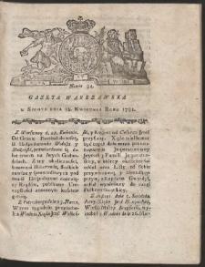 Gazeta Warszawska. R.1781 Nr 34
