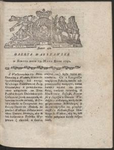 Gazeta Warszawska. R.1781 Nr 40