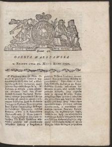Gazeta Warszawska. R.1781 Nr 42