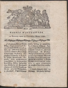 Gazeta Warszawska. R.1781 Nr 46