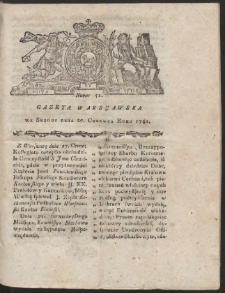 Gazeta Warszawska. R.1781 Nr 51