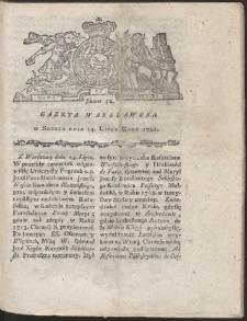 Gazeta Warszawska. R.1781 Nr 56