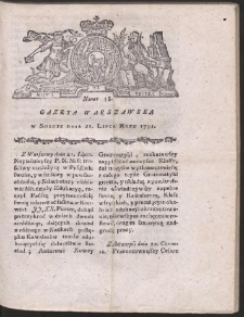 Gazeta Warszawska. R.1781 Nr 58