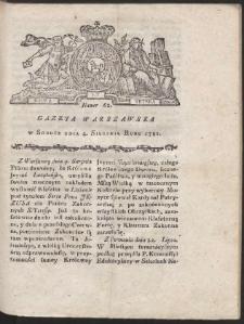 Gazeta Warszawska. R.1781 Nr 62