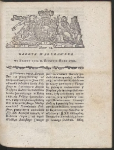 Gazeta Warszawska. R.1781 Nr 63