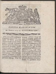 Gazeta Warszawska. R.1781 Nr 65