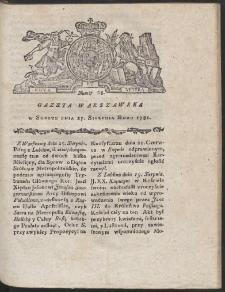 Gazeta Warszawska. R.1781 Nr 68