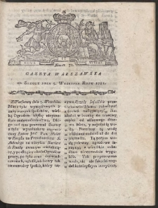 Gazeta Warszawska. R.1781 Nr 71