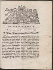 Gazeta Warszawska. R.1781 Nr 76