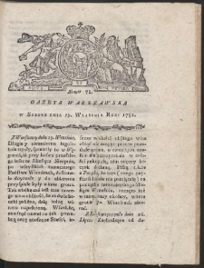 Gazeta Warszawska. R.1781 Nr 78