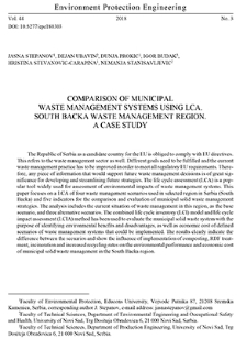 Comparison of municipal waste management systems using LCA. South Backa waste management region. A case study