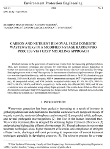 Carbon and nutrient removal from domestic wastewaters in a modified 5-stage Bardenpho process via fuzzy modeling approach