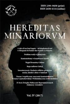 Spis treści [Hereditas Minariorum, Vol. IV, 2017]