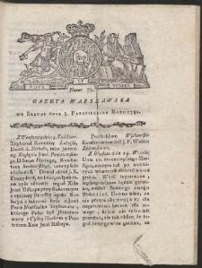 Gazeta Warszawska. R.1781 Nr 79