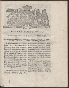 Gazeta Warszawska. R.1781 Nr 92