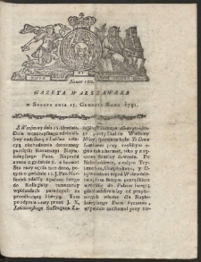 Gazeta Warszawska. R.1781 Nr 100