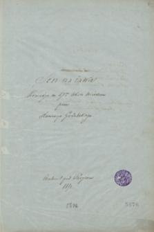 Sen na iawie. Komedia w 1 akcie wierszem [...]. Auteuil pod Paryżem 1851