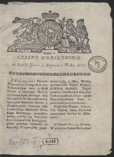 Gazeta Warszawska. R.1782 Nr 1
