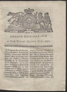 Gazeta Warszawska. R.1782 Nr 5