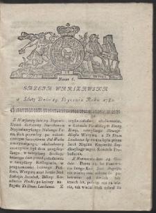 Gazeta Warszawska. R.1782 Nr 6