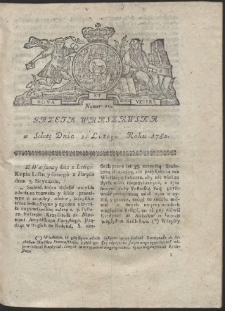 Gazeta Warszawska. R.1782 Nr 10