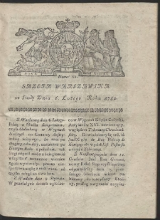 Gazeta Warszawska. R.1782 Nr 11
