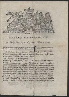 Gazeta Warszawska. R.1782 Nr 15