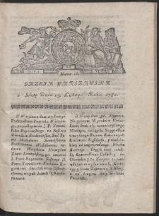 Gazeta Warszawska. R.1782 Nr 16