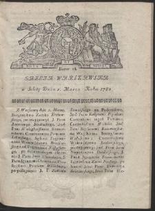 Gazeta Warszawska. R.1782 Nr 18