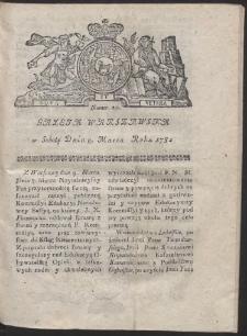 Gazeta Warszawska. R.1782 Nr 20