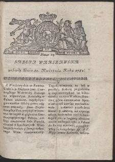 Gazeta Warszawska. R.1782 Nr 29