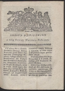Gazeta Warszawska. R.1782 Nr 30