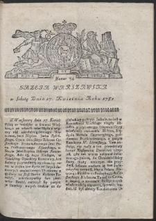 Gazeta Warszawska. R.1782 Nr 34