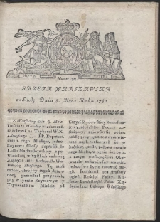 Gazeta Warszawska. R.1782 Nr 37