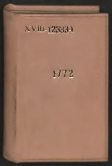 Kalendarz Warszawski Na Rok 1772 […]