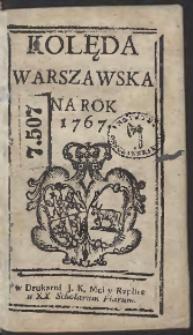Kolęda Warszawska Na Rok 1767
