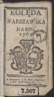 Kolęda Warszawska Na Rok 1768
