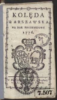 Kolęda Warszawska Na Rok 1776