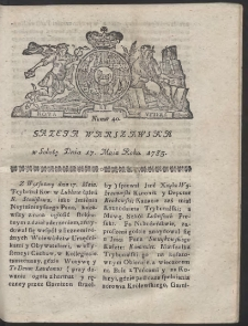 Gazeta Warszawska. R.1782 Nr 40