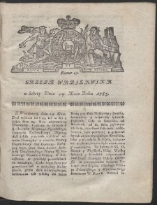 Gazeta Warszawska. R.1782 Nr 42