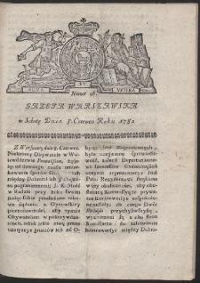 Gazeta Warszawska. R.1782 Nr 46