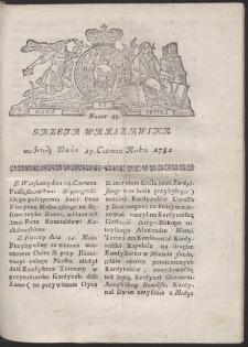 Gazeta Warszawska. R.1782 Nr 49